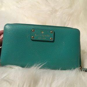 Kate spade wallet green